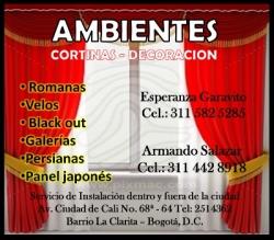 AMBIENTES CORTINAS DECORACION