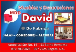 MUEBLES Y DECORACIONES DAVID